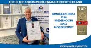 Immobilienmakler Focus Top 1000 Auszeichnung 2019