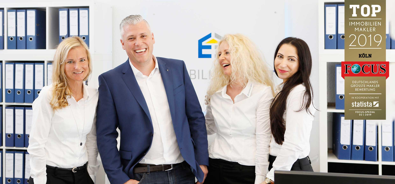 Immobilienteam von Immobilien Ernst Ihre Immobilienexperten für das rechtsrheinische mit Focus Auszeichnung